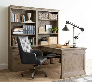 Livingston Small Peninsula Desk Office Suite, Montauk White