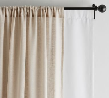 """Universal Blackout Curtain Liner, 50 x 108"""", Off White"""