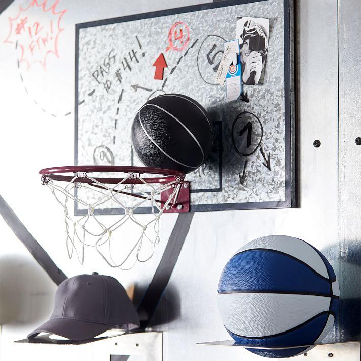 Galvanized Basketball Hoop & Dry-Erase Board