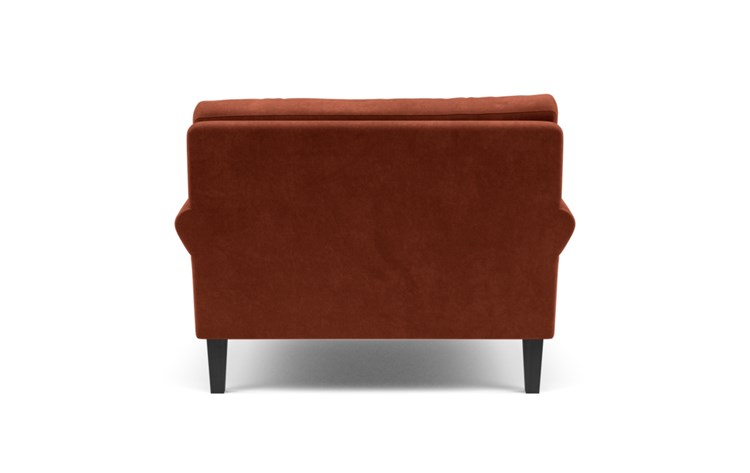 Maxwell Accent Chair with Red Rust Fabric and Painted Black legs