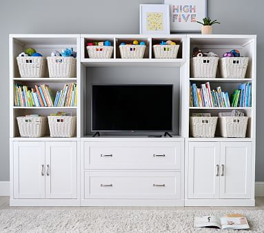 Preston Wall 2 Drawer Media Base, Simply White, Flat Rate
