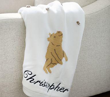 Winnie the Pooh Knit Heirloom Baby Blanket