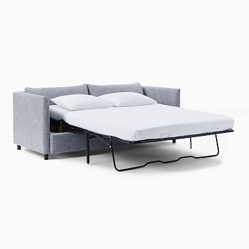 Shelter Sleeper, Poly, Performance Velvet, Silver, Concealed Supports