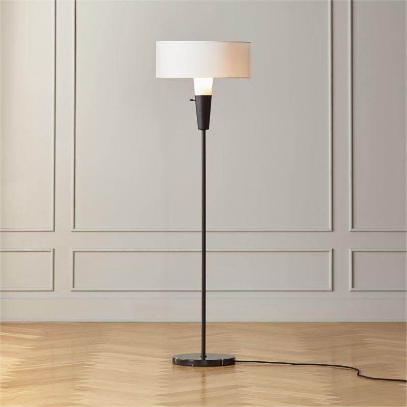 Exposior Silver Shade Drum Floor Lamp Model 2001