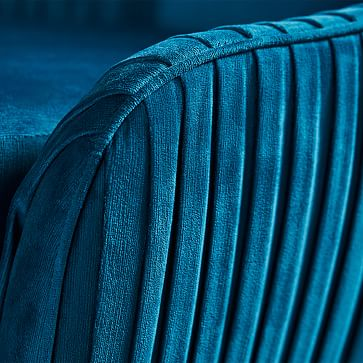 Roar & Rabbit Swivel Chair, Poly, Distressed Velvet, Ink Blue, Antique Brass