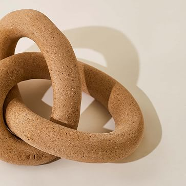 We Infinity Knot Collection Infinity Knot Stoneware Speckled 7X6X4