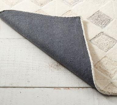 Lin Tufted Wool Rug, 8' x 10', Ivory Multi