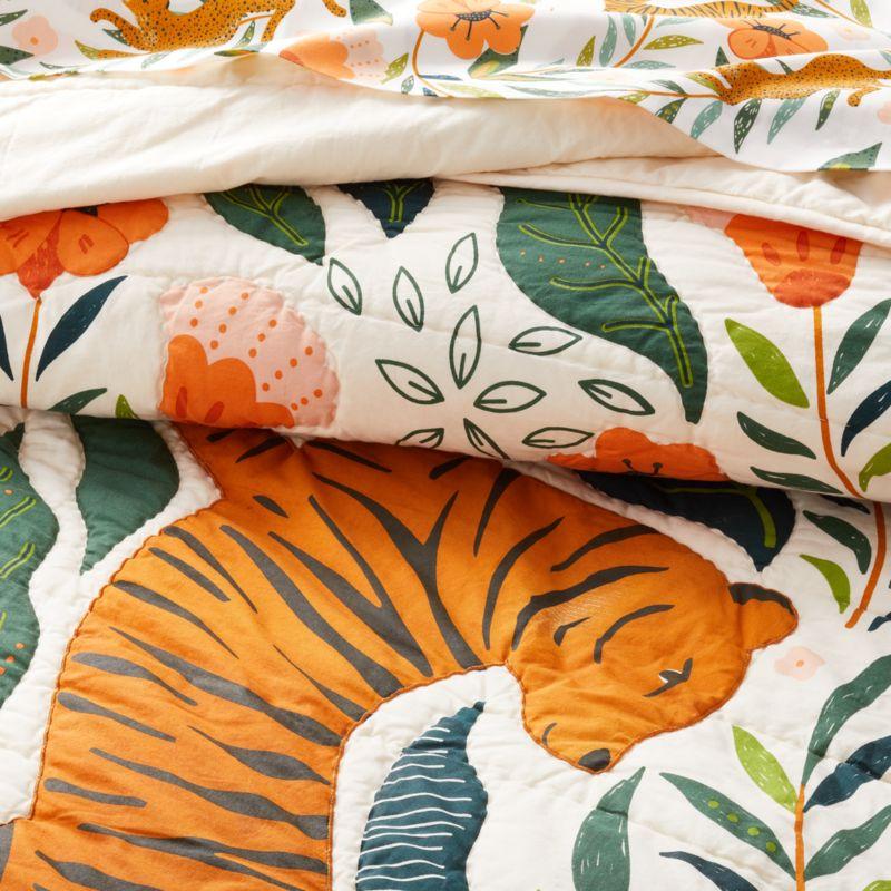 Marrakech Tiger Twin Quilt