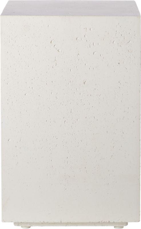 White Concrete Side Table