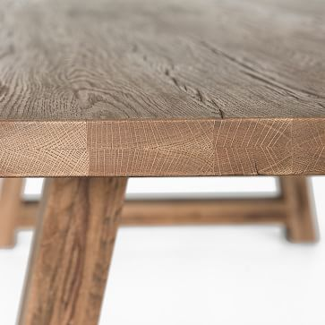 "Amelie Dining Table, 74"", Rustic Oak"