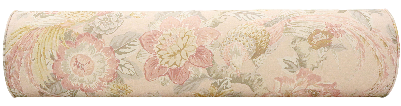 "The Bolster :: Floral Aviary Print // Blush - KING // 9"" X 48"""