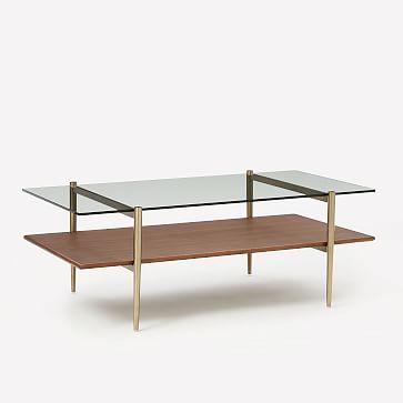 "Art Display Coffee Table, 52"", Wood"
