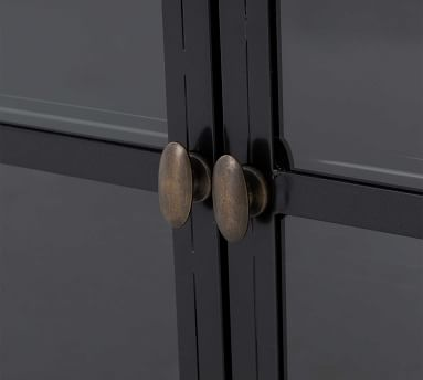 Harmon Metal 4-Door Media Console, Black