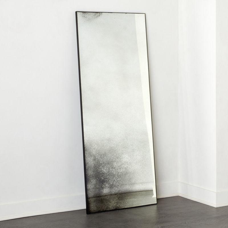 "Clooney Antiqued Floor Mirror 32""X76"" RESTOCK IN EARLY APRIL,2021"