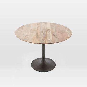 "Tulip Pedestal Dining Table, Round, 44"", Raw Mango"