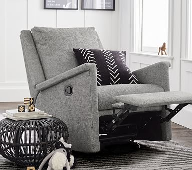 Carlo Recliner, Chenille Tweed, Frost Gray