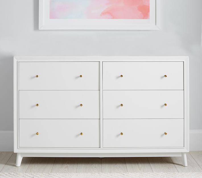 Sloan Extra-Wide Nursery Dresser without Topper, Simply White