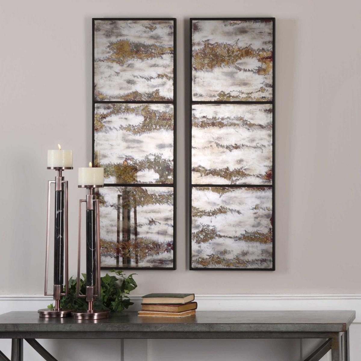 Rahila Mirrored Wall Panels, Set of 2
