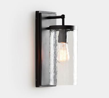 Duvall Recycled Glass Indoor/Outdoor Sconce, Bronze