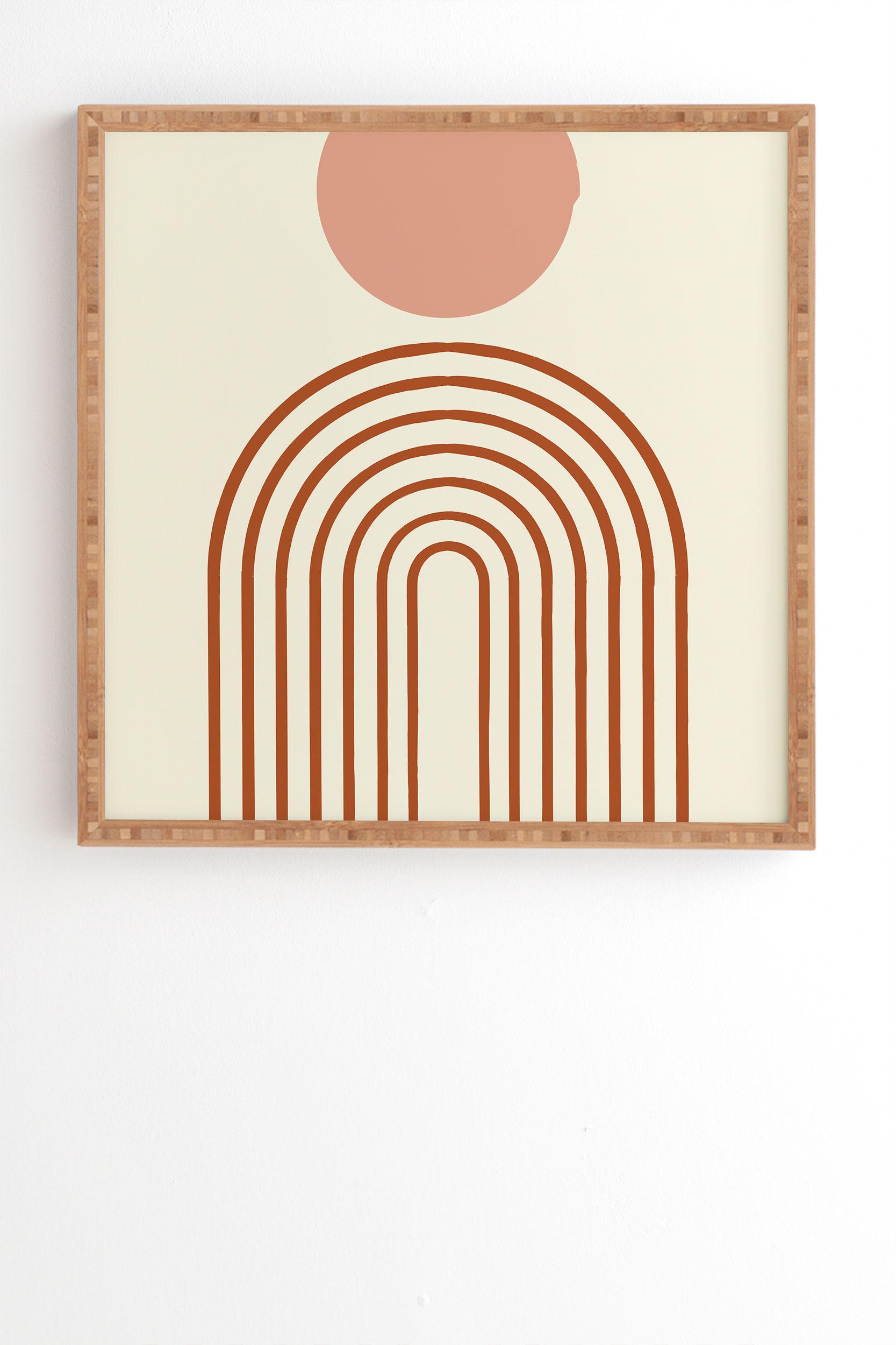 "Full Moon Rainbow by Grace - Framed Wall Art Bamboo 30"" x 30"""