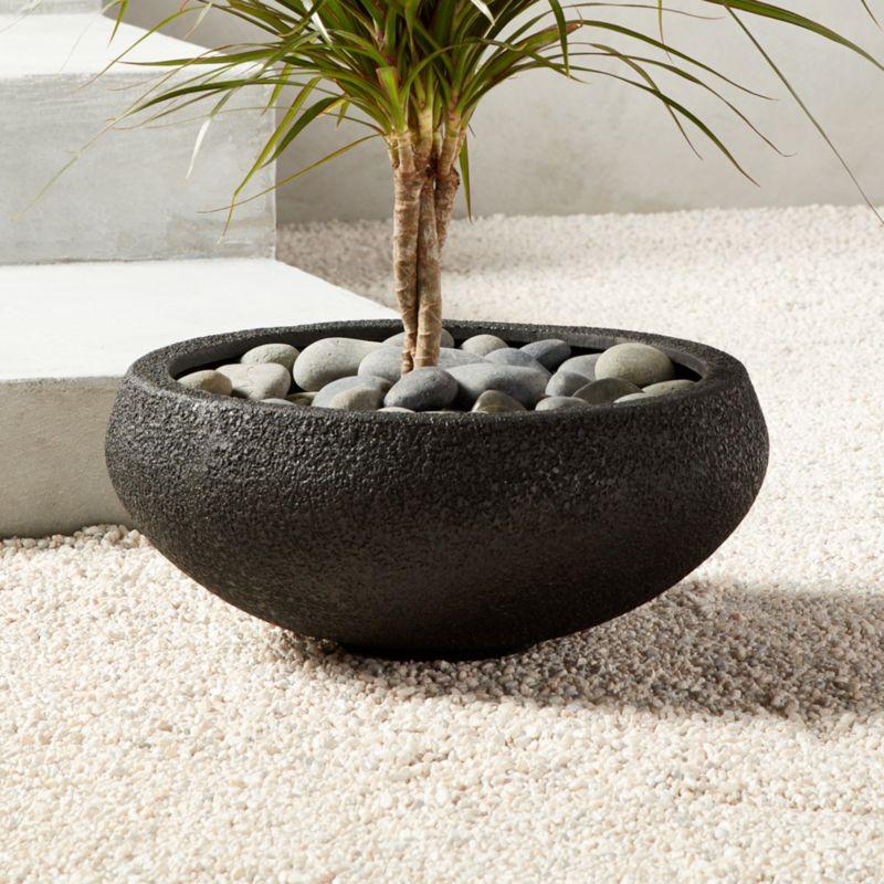 Boka Black Low Planter/Bowl Large