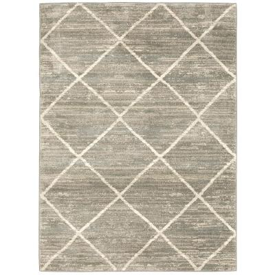 Home Decorators Collection Luciana Gray 8 ft. x10 ft. Geometric Area Rug