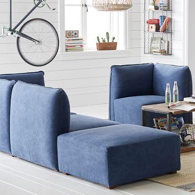 Bryce Lounge Sectional Set, Gray Everyday Velvet, IDS