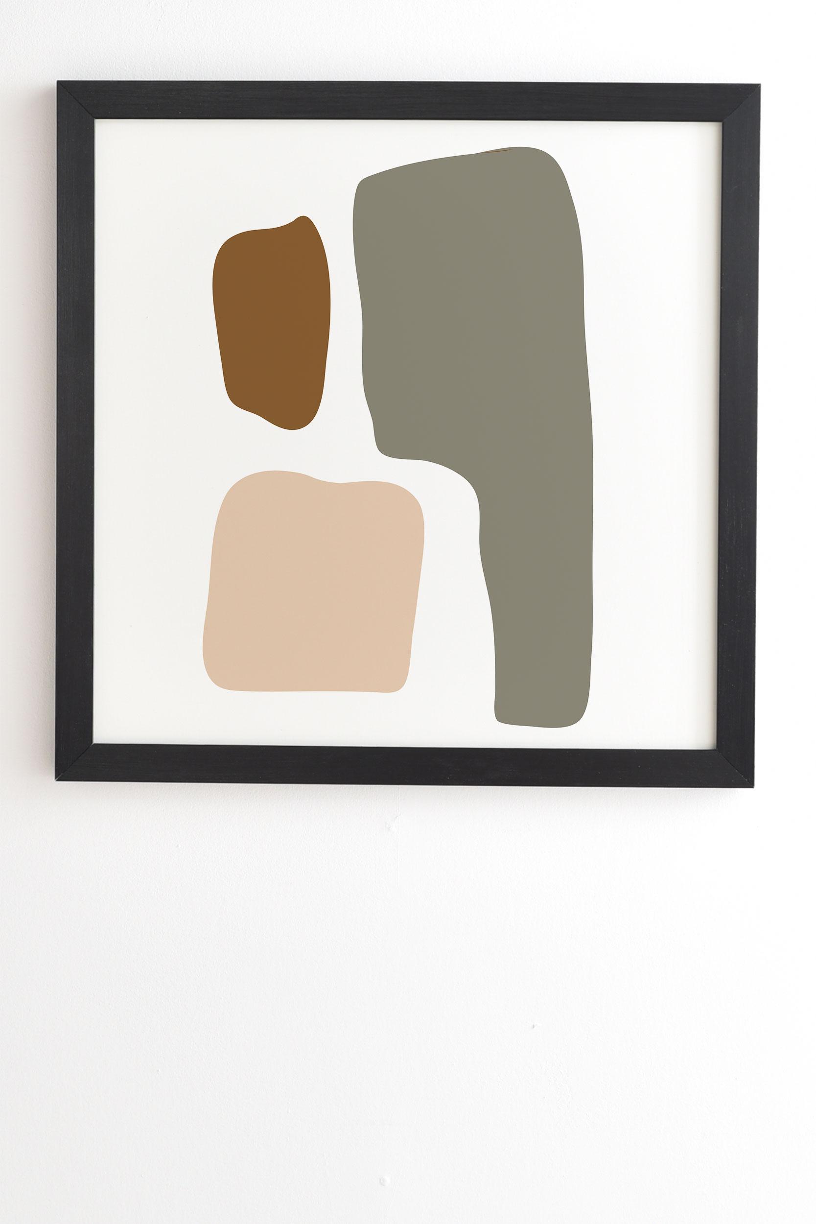 "Shape Study 47 by mpgmb - Framed Wall Art Basic Black 14"" x 16.5"""