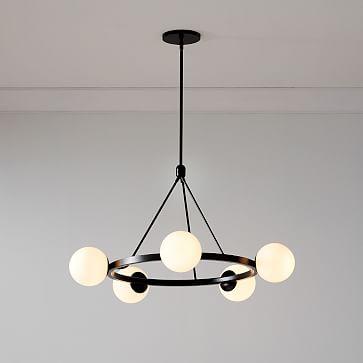 Hayes 5 Lights Chandelier, Dark Bronze