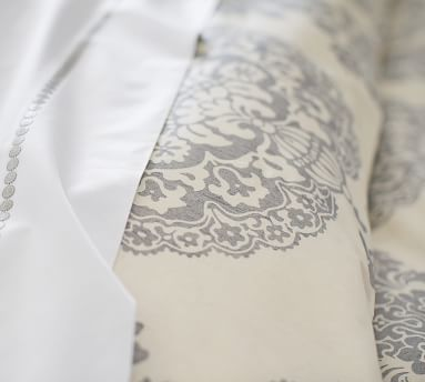 Twilight Asher Medallion Organic Cotton Duvet Cover, King/Cal. King
