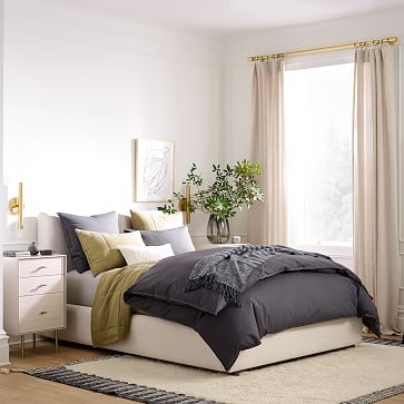 Haven Bed, King, Twill, Sand