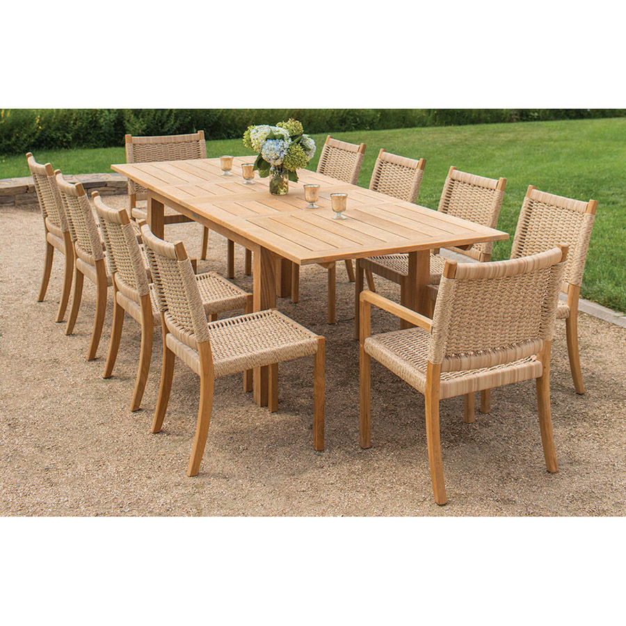 Kingsley Bate Hyannis Teak Rectangular Extendable Outdoor Dining Table - Small
