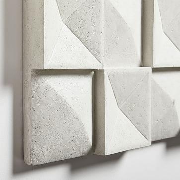 "Lava Ash Tile Wall Art, 36""W x 24""H"