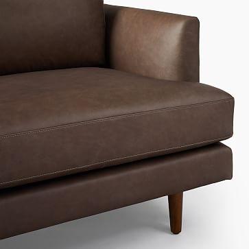 """Haven Loft Sofa 86"""" Sofa, Trillium, Ludlow Leather, Pewter, Pecan"""