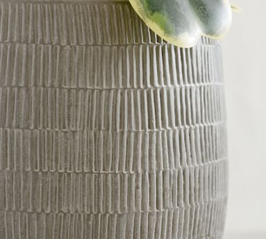 Cosgrove Ceramic Planter, Medium - Charcoal