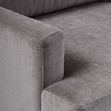 Andes Grand Sofa, Poly , Chenille Tweed, Dove, Dark Pewter