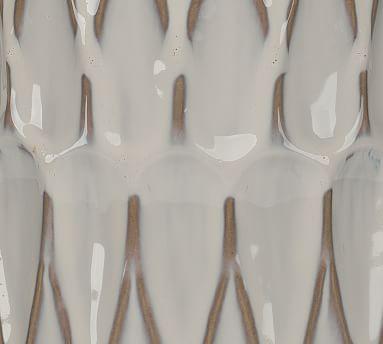 Selma Ceramic Table Lamp, White Patterned Ceramic