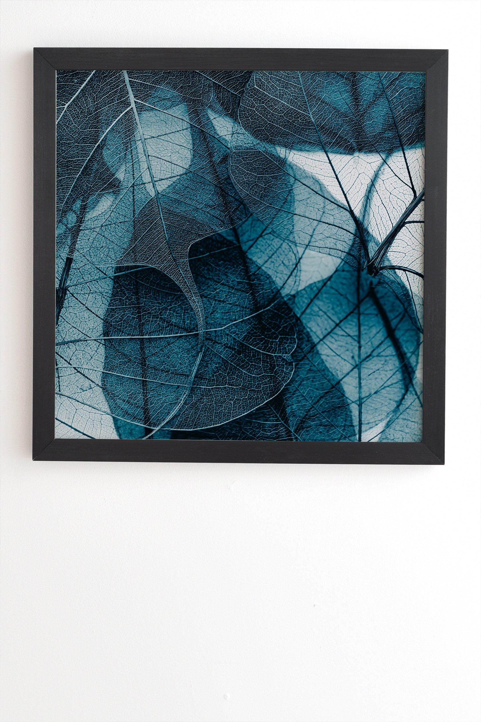 "Ingrid Beddoes Denim blue Black Framed Wall Art - 19"" x 22.4"""