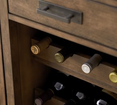 Mateo Modular Bar, Double Cabinet + Double Hutch, 2 Wine Cabinets + 2 Single Hutches, Salvaged Black - COMPLETE SUITE
