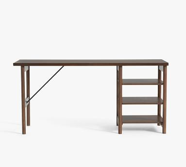 "Bloomquist 64"" Desk with Shelves, Warm Dusk"