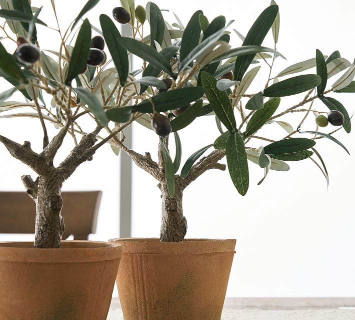 Faux Potted Olive Tree, Mini