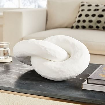 Paper Links Object, White, Paper Mache