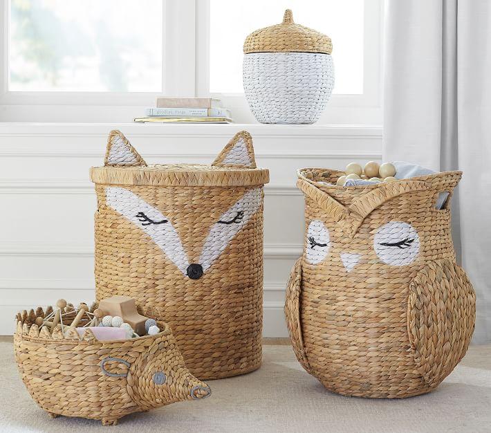 Shaped Critter Storage, Fox Toy Basket