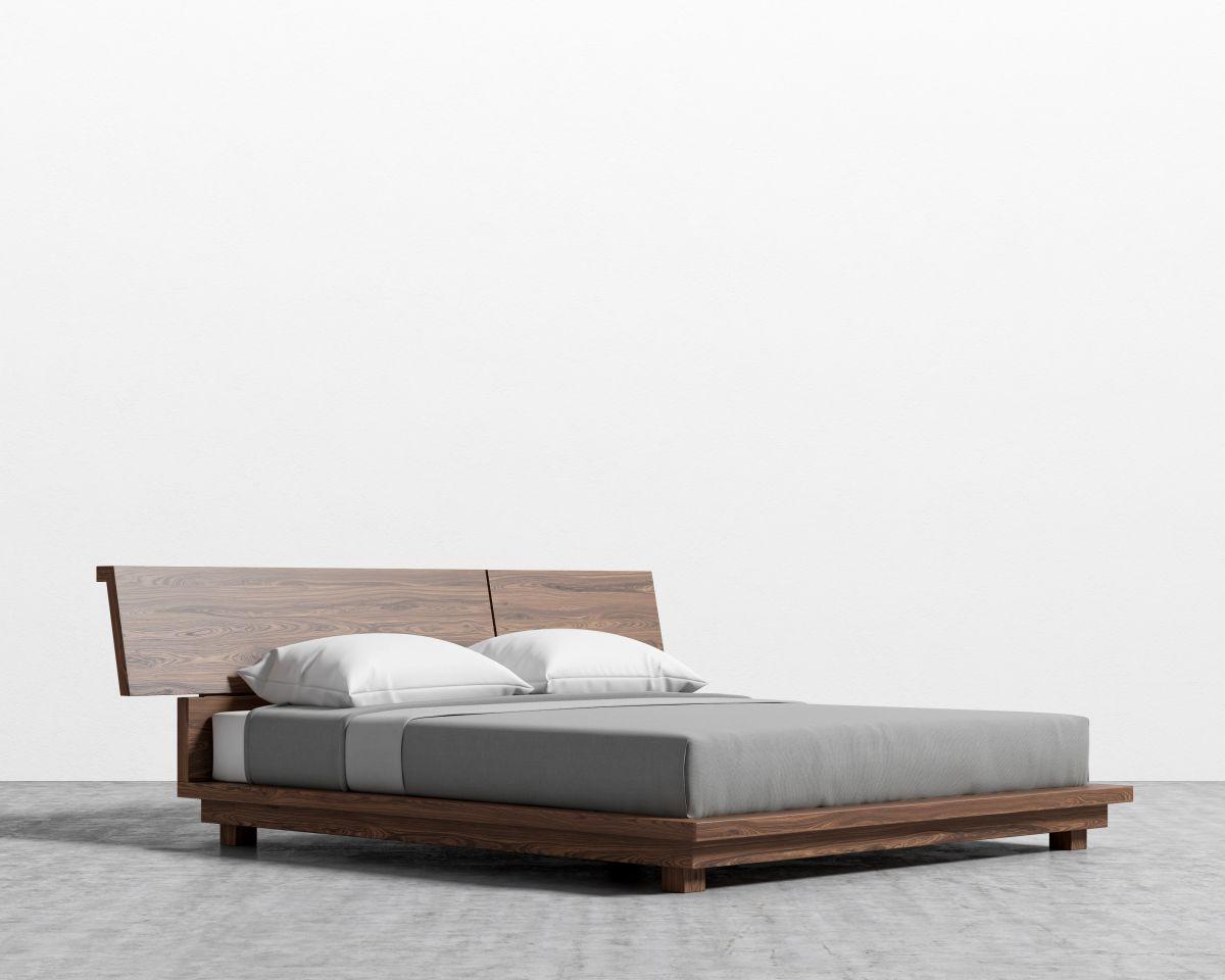 Hunter Bed - King Walnut Veneer