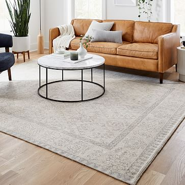 Hand Knotted Amica Rug, 8'x10', Ivory