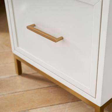 Blaire Smart Storage Desk, Lacquered Simply White