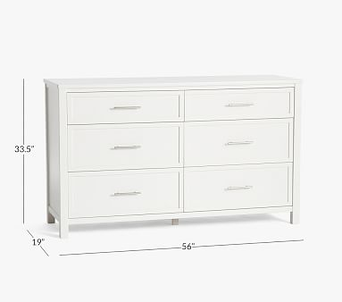 Camden Extra-Wide Dresser, Simply White, In-Home Delivery