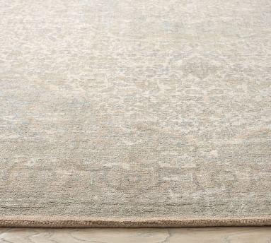 Arya Printed Hand Loomed Rug, 8 x 10', Sage Multi