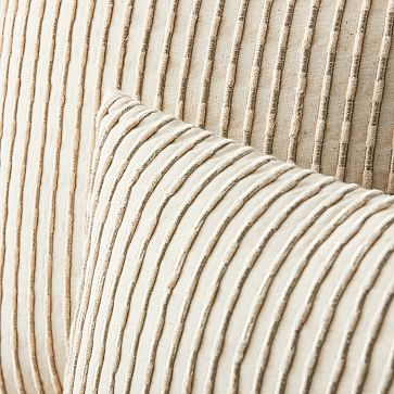 """Corded Metallic Pillow Cover, 18"""" x 18"""", Natural"""