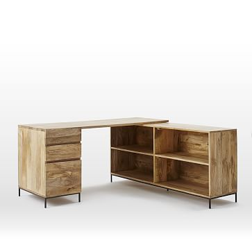 Industrial Storage Modular Desk, Set 3: Desk + Box File + Bookcase